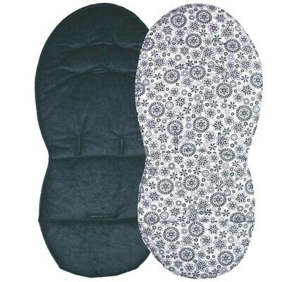 Reversible Seat Liners for Silver Cross Pioneer Pushchairs - Black Designs