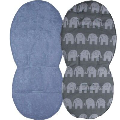 Reversible Seat Liners for Silver Cross Wayfarer Pushchairs - Grey Designs