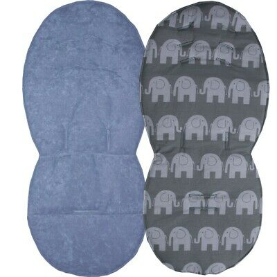 Reversible Seat Liners for Silver Cross Pioneer Pushchairs - Grey Designs