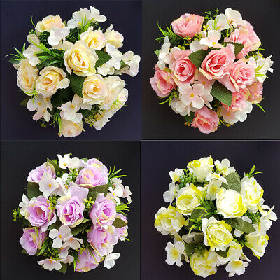 ROSE AND HYDRANGEA  Arrangement | Artificial Flower Pot | Grave/Memorial