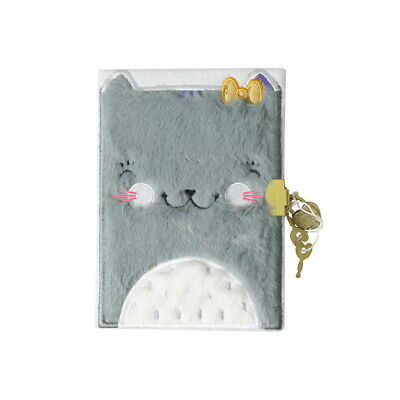 Journal Intime Couverture Peluche - 12 x 17 cm - Chat