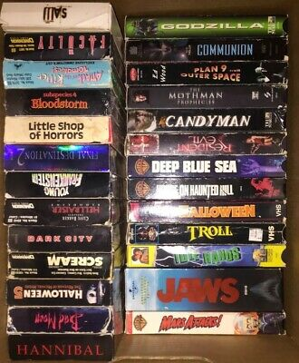 LOT OF 10 Horror VHS Tapes - 1980s 1990s Rare Cult Movies