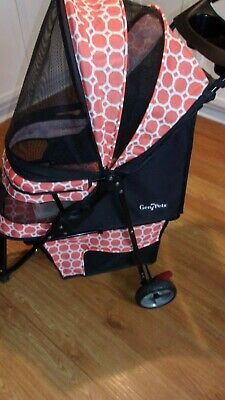 Gen 7 Pets Regal Plus Pet Stroller for pets up to 25 Pound with Cup Holders  Red