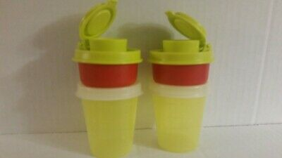 New Tupperware Unique Interchangeable Smidget&Tupper Mini Salt N Pepper Shakers!