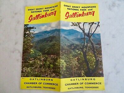Vtg. GATLINBURG GREAT SMOKY MOUNTAINS NATIONAL PARK Tennessee Travel Brochure