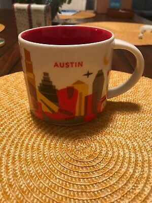 Starbucks Austin You Are Here Coffee Mug Cup 14 Oz  - Excellent Condition