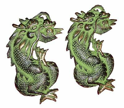 Dragon Shape Old Antique Vintage Style Handmade Solid Brass Door Handles Set