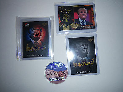 2016 LOT  Donald J Trump President HTF COLLECTIBLE DECISION TRADE CARDS PIN