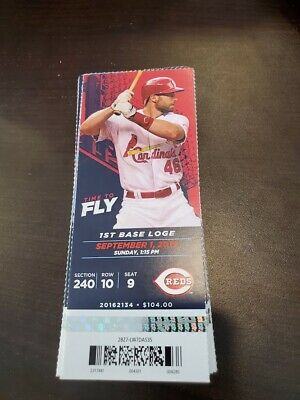St. Louis Cardinals Cincinnati Reds MINT Season Ticket 9/1/19 2019 MLB Stub