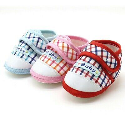 Newborn Infant Baby Boy Girl Soft Sole Prewalker Warm Hook & Loop Flats Shoes