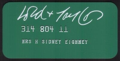 Vintage Lord & Taylor Stores Princess Size Merchant Credit Card