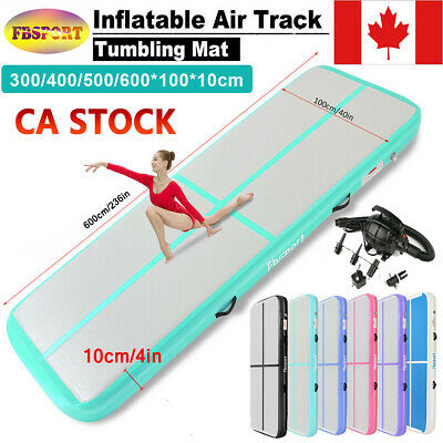 4/5/6m Inflatable Air Track Tumbling Gymnastic Home GYM Training Mat +Pump CA