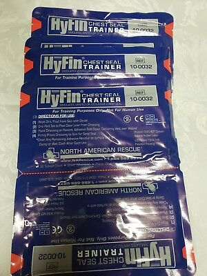 *NEW* 2x Pack North American Rescue HyFin Chest Seal Trainer, Exp. 2023