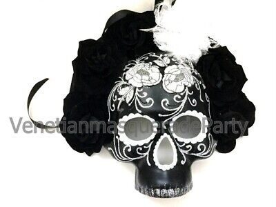 Day of the Dead Flower Sugar Skull Masquerade Mask Halloween Costume Wall Deco