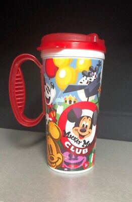 Disney World Parks 2019 Mickey Mouse Club Travel Resort Whirley Mug Cup RED TOP