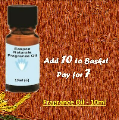 10ml Fragrance Oils- Buy 5, Get 2 Free- for Candles, Diffusers, Oil Burners etc.