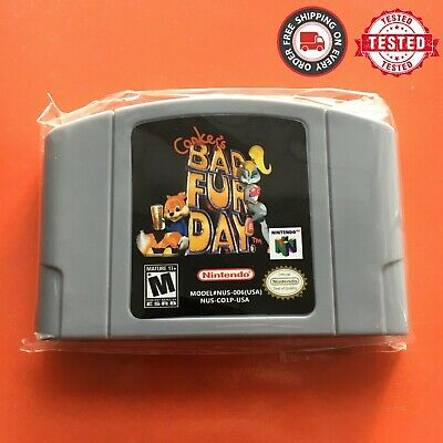 Conker's Bad Fur Day - For Nintendo 64 Video Game Cartridge For N64 Console US