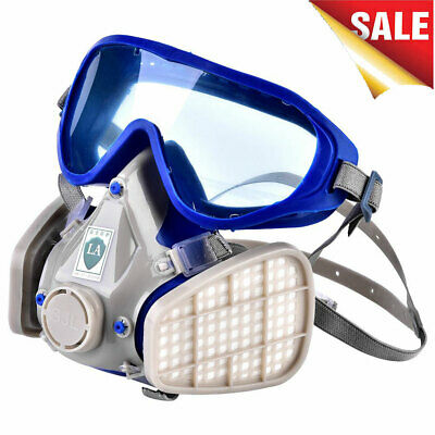 1PC Silicone Full Face Respirator Gas Mask Goggles Paint Chemical Fire Dustproof