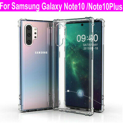 For Samsung Galaxy Note 10/Note 10+ Plus S10 Cover Clear Shockproof Bumper Case