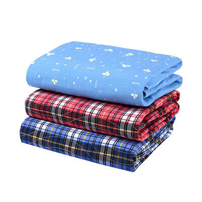 4-Layer Washable Underpads Bed Seat Reusable Pads Waterproof Incontinence Helper
