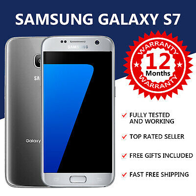 Samsung Galaxy S7 - 32GB - Silver - 4G LTE (Unlocked) Android Smartphone