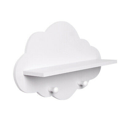 Cloud Shape Wood Floating Shelf Wall Mount Display Board Wall Hang Storage Rack