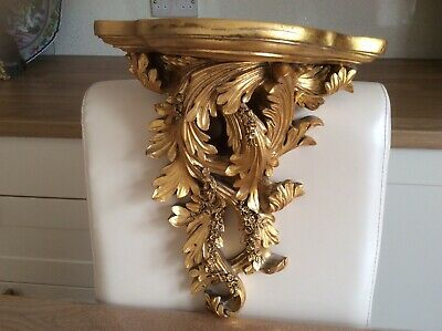 Gold Antique Baroque Style Console Wall Unit.