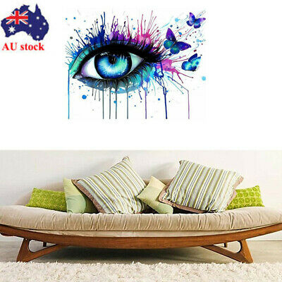 AU Framed 40*50cm Eye Paint By Numbers Kit Canvas Painting Wall Home Decor Art