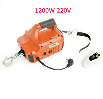 Portable 1200W 450KG Household Electric Winch With Wireless Remote Control 220V