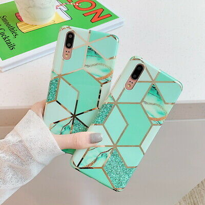 Plating Case For Huawei P30 P20 Mate 20 Lite Nova 5 IMD Rubber Soft Slim Cover