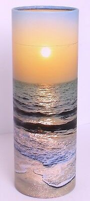 Small Scattering Ashes urn , Biodegradable Cremation Funeral Scatter Tube sunset