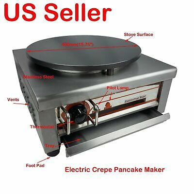 Electric Crepe Maker Machine Commercial Pancake Kitchen Maker 400mm/15.75""
