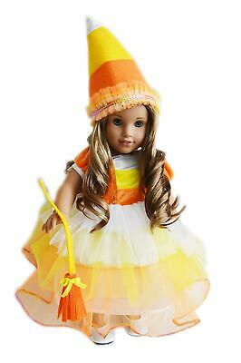 Halloween Candy Corn Costume Fits 18 Inch American Girl Doll Clothes