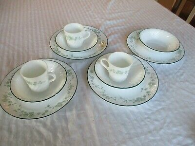 Corelle Callaway Green Ivy Lot  Of 11 Pieces