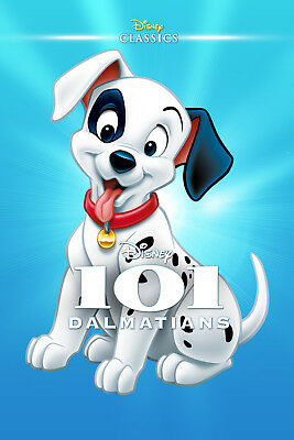 ONE HUNDRED AND ONE DALMATIANS DISNEY MOVIE POSTER FILM A4 A3 ART PRINT CINEMA