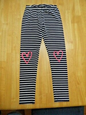 Kohl's Jumping Beans Leggings (Girls size 7) Blue/ White striped