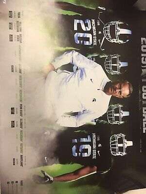 2019 Michigan State Spartans football poster Mark Dantonio MSU Full Schedule