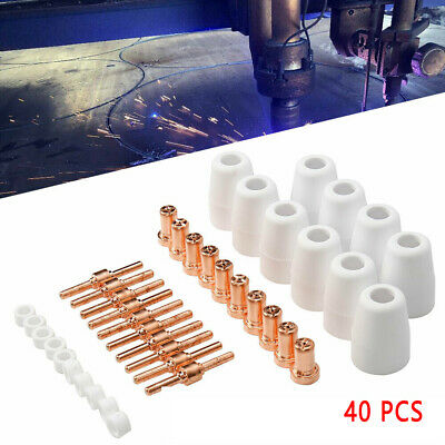 40Pcs Plasma Cutter Consumables A-IPC40/41-30 PT-31 Cut-40 plasma Tips PP1818 UK