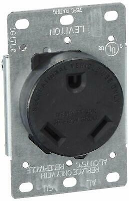 Leviton 7313-S00 R10-0 Receptacle, 30 A, 125/250 Vac, 4 Awg, 3 Wires, 2 Poles, 3