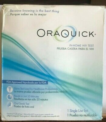 OraQuick In-Home HIV Test Mouth Oral Swab Stick Medical Diagnostic Supplies 2020