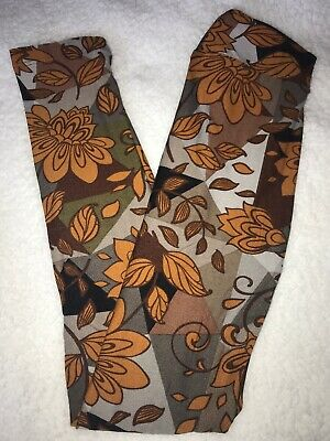 LuLaRoe Kids Leggings L/XL Large XLarge NWT Black Gray Brown Floral