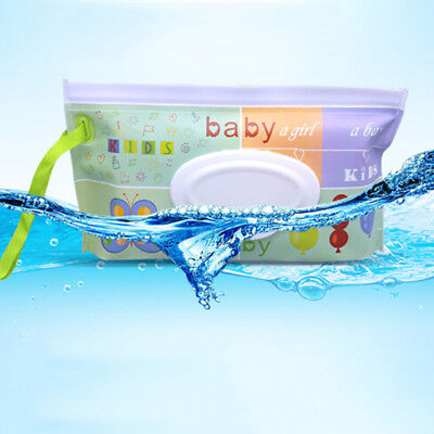 Clean Wipes Carrying Case Wet Wipes Bag Cosmetic Pouch Wipes Container  LU