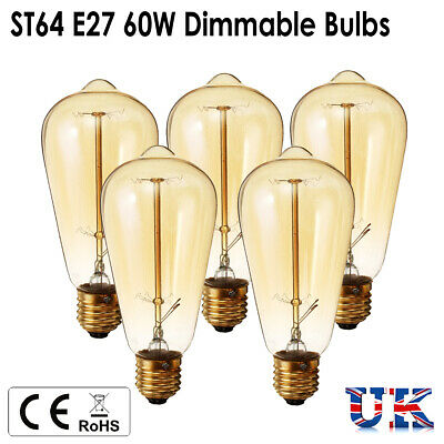 E27 Vintage Rétro Filament Edison Dimmable Antique Industriel Lampe Ampoule 60W