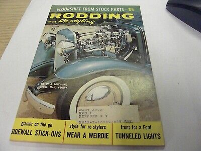 1959 SEPTEMBER RODDING & Re-styling - OLD CAR MAGAZINES -FLOOR SHIFT FROM STOCK