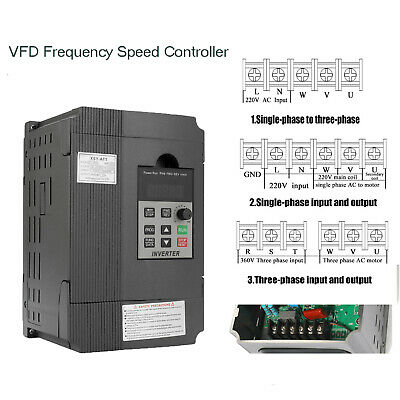 Universal VFD 3 Phase Frequency Speed Controller 2.2KW 12A 220V AC Motor Drive