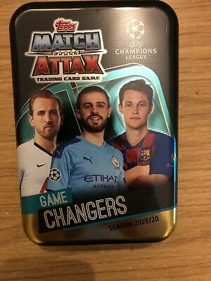 Match Attax 2019/20 Game Changers Empty Mega Tin + 100 Cards Inc Limited Mint