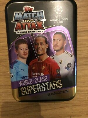 Match Attax 2019/20 World-Class Superstar Empty Mega Tin + 100 Cards Inc Limited