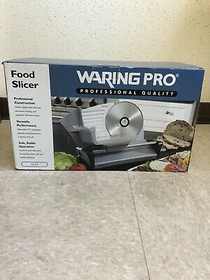 Waring Pro FS150 Professional Food Slicer, Stainless Steel Meat Cheese Kitchen