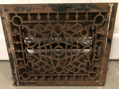 Antique Cast Iron SMB Co. Heat Grate Floor Register Old Milwaukee WI 10 x 12