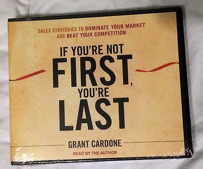 Grant Cardone If You're Not First, You're Last Unabridged 7 CD Set Audiobook NEW